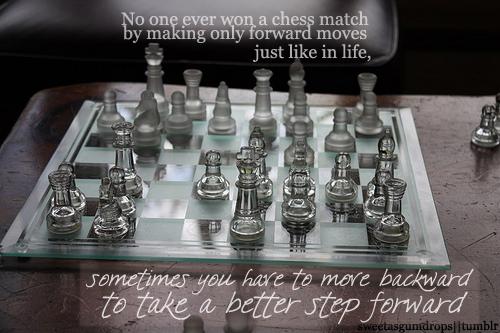 Step back to step forward